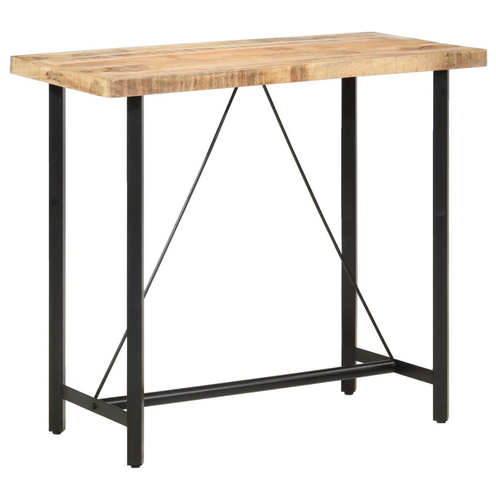 vidaXL Barový stôl 120x58x107 cm surové mangovníkové drevo