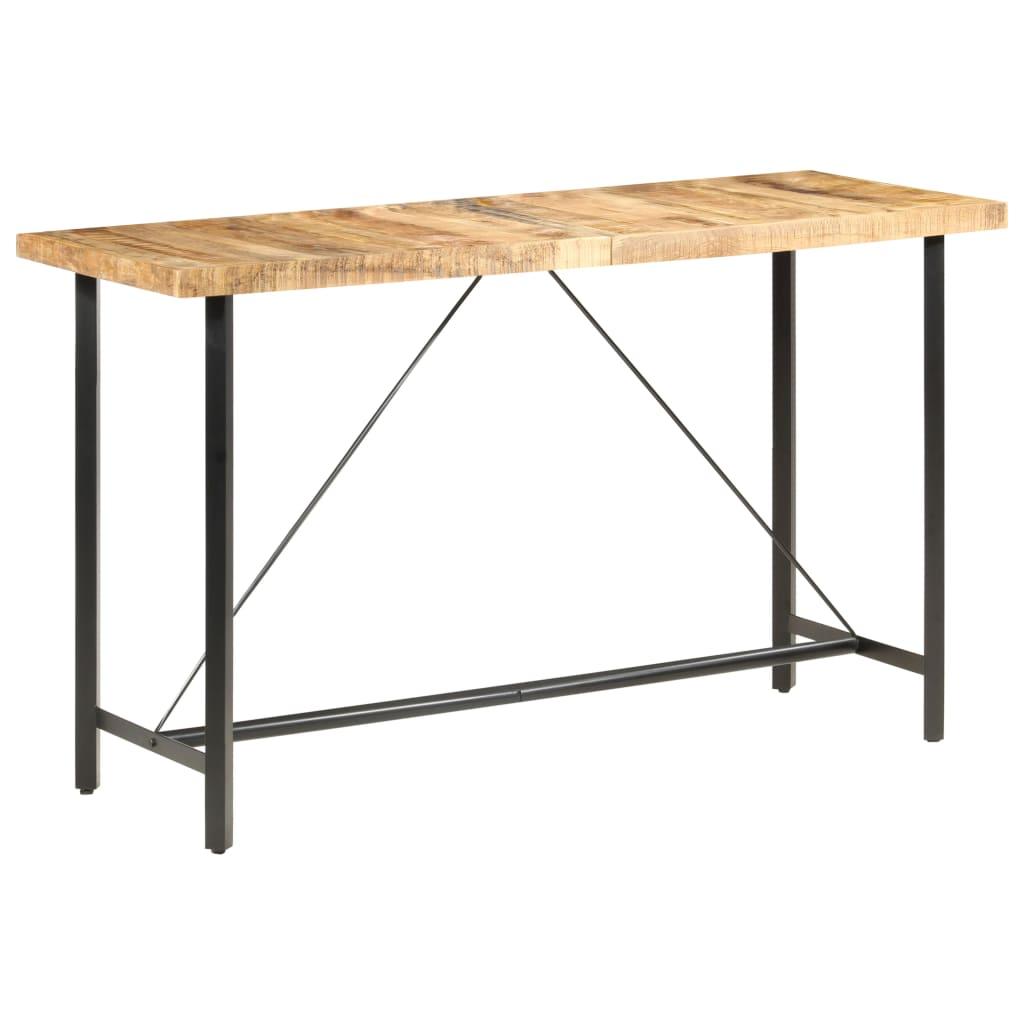 vidaXL Barový stôl 180x70x107 cm surové mangovníkové drevo