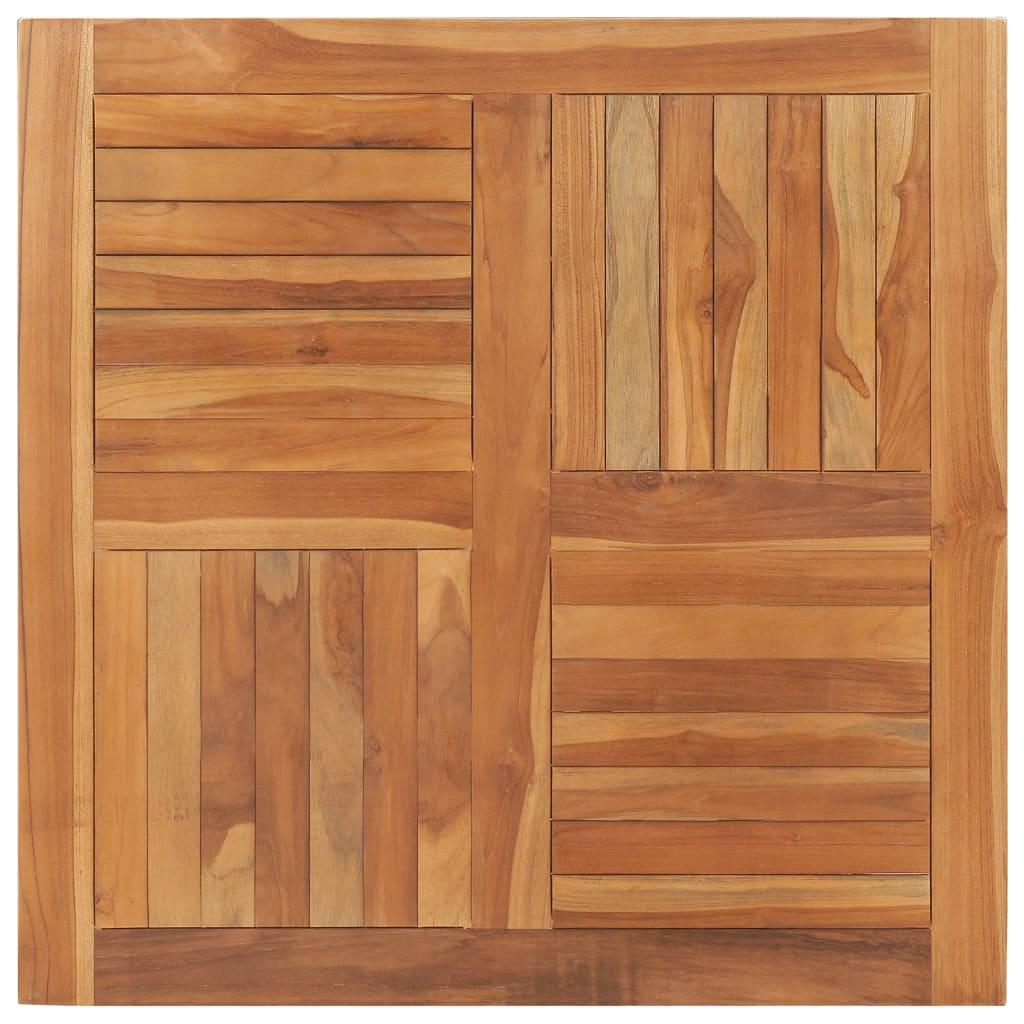 vidaXL Stolová doska, tíkový masív, štvorcová 90x90x2,5 cm
