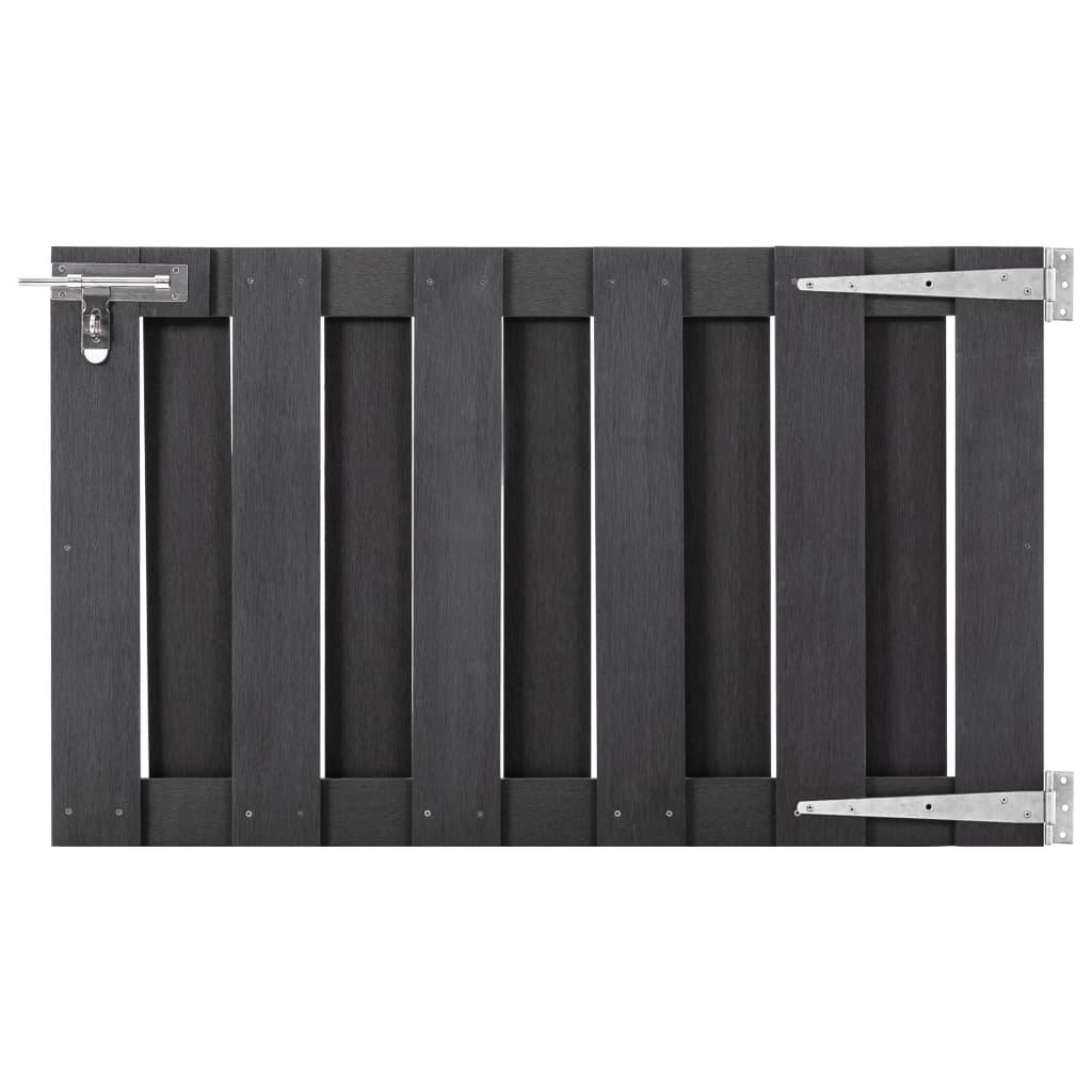 vidaXL Záhradná brána, WPC 100x60 cm, sivá