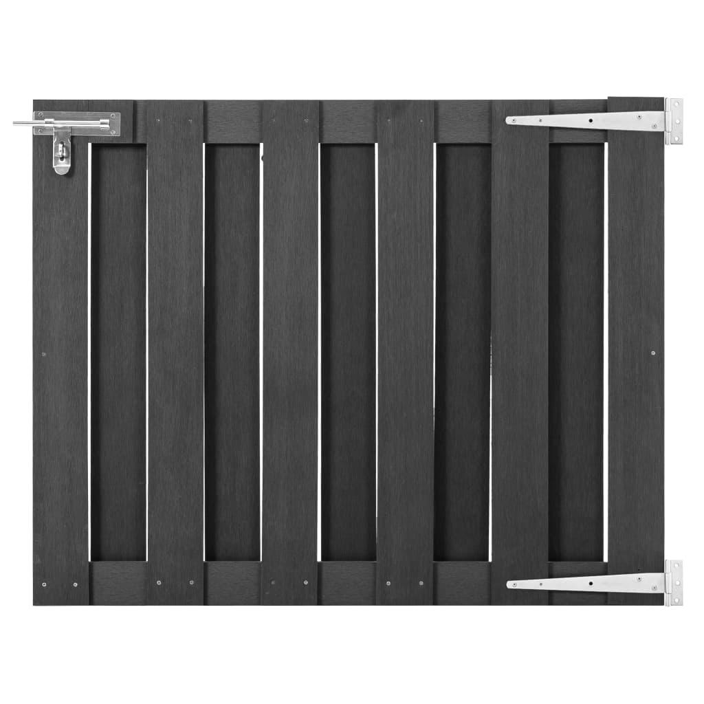 vidaXL Záhradná brána, WPC 100x80 cm, sivá