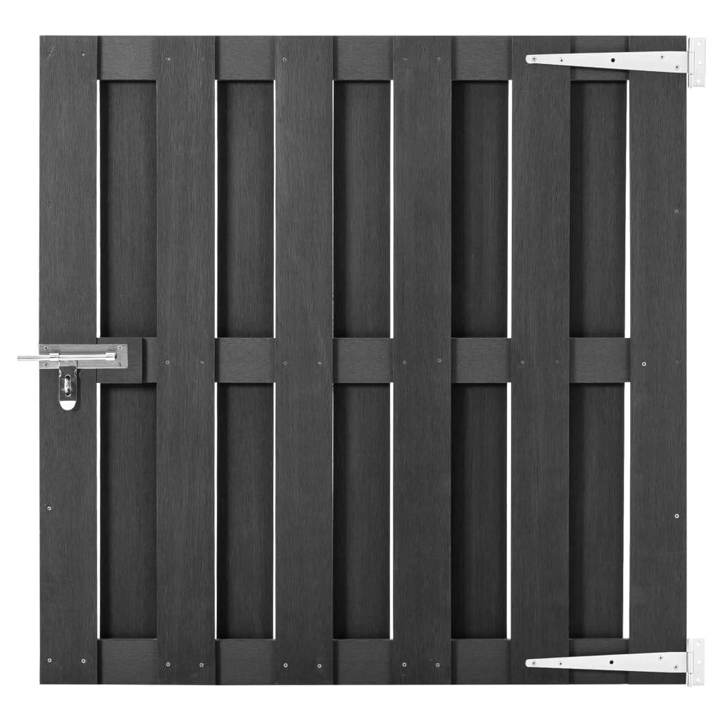 vidaXL Záhradná brána, WPC 100x100 cm, sivá