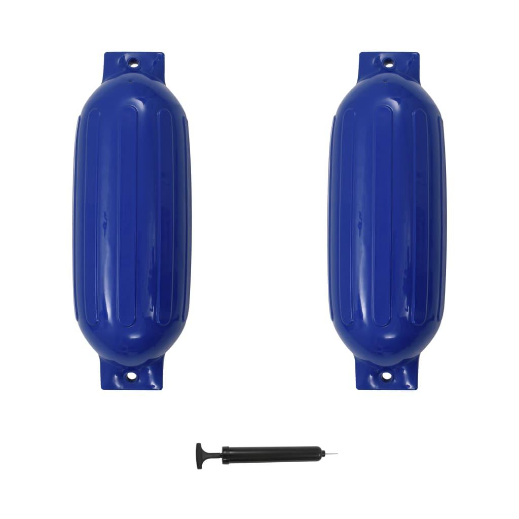 vidaXL Lodný nárazník 2 ks modrý 69x21,5 cm PVC