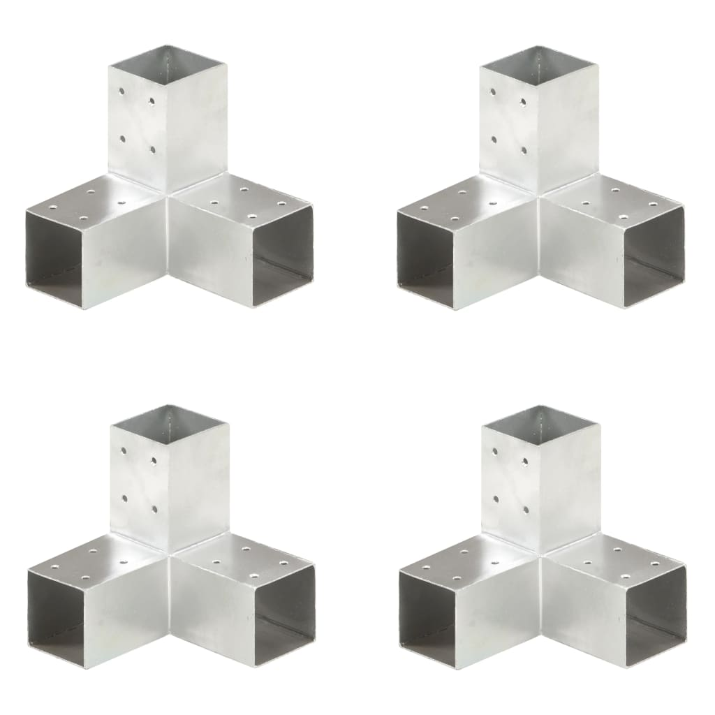 vidaXL Trámové spojky 4 ks v tvare Y 71x71 mm pozinkovaný kov