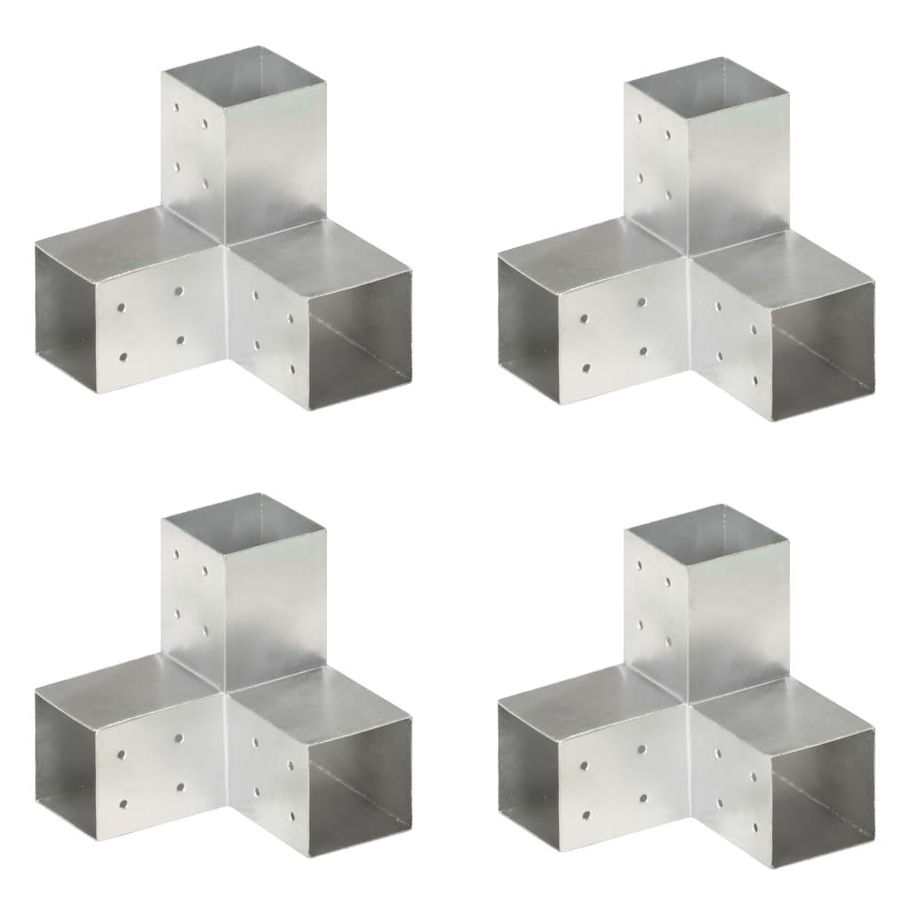 vidaXL Trámové spojky 4 ks v tvare Y 81x81 mm pozinkovaný kov