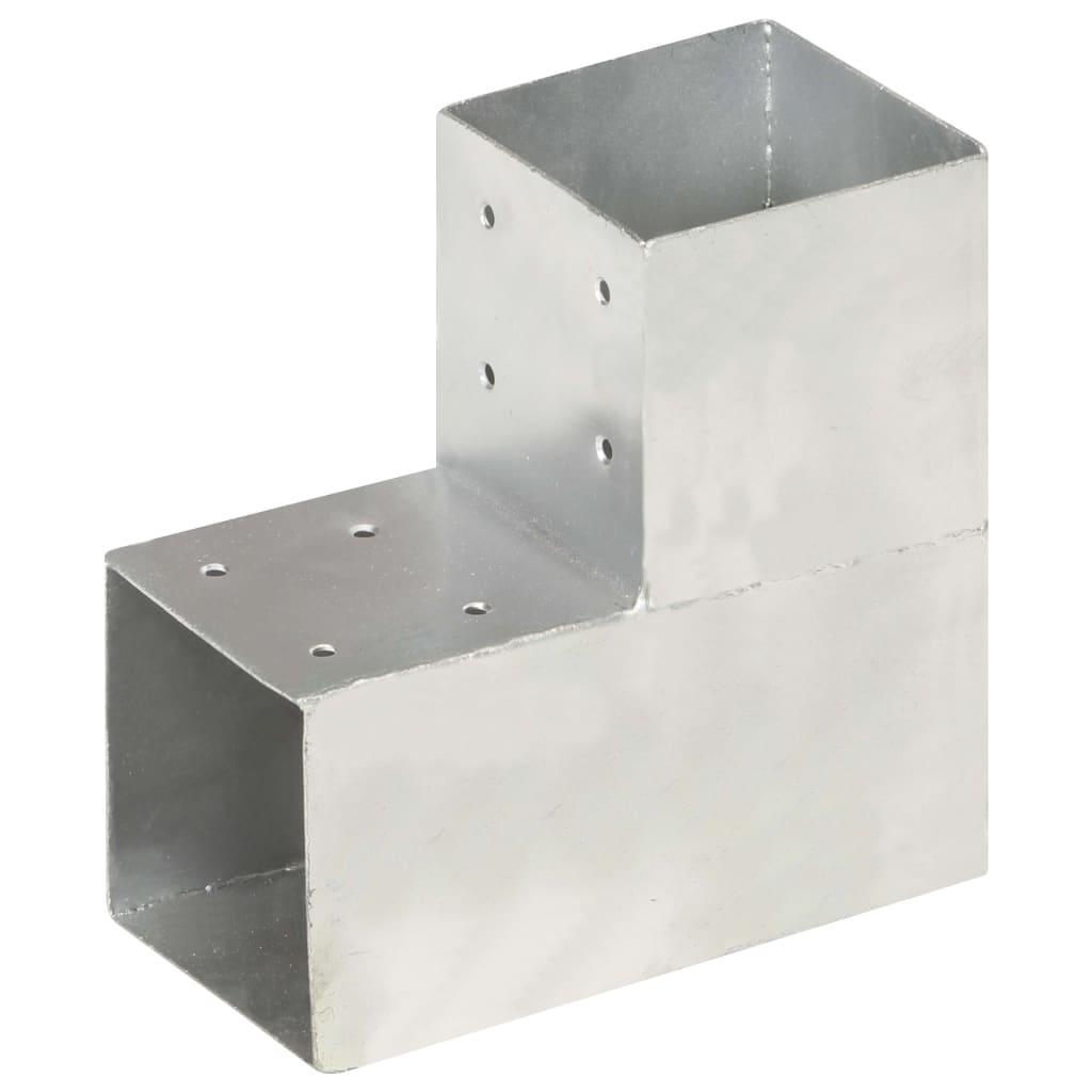 vidaXL Trámová spojka v tvare L 101x101 mm pozinkovaný kov
