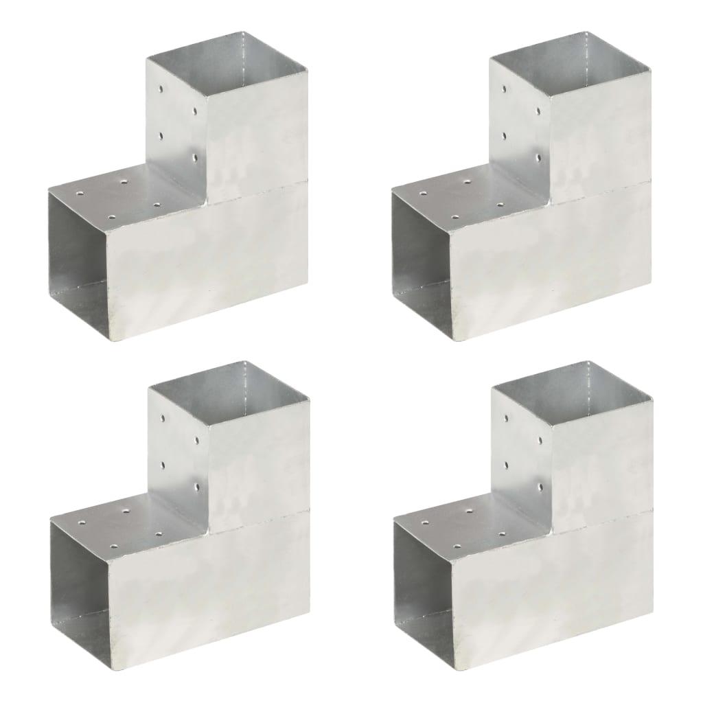 vidaXL Trámové spojky 4 ks v tvare L 101x101 mm pozinkovaný kov