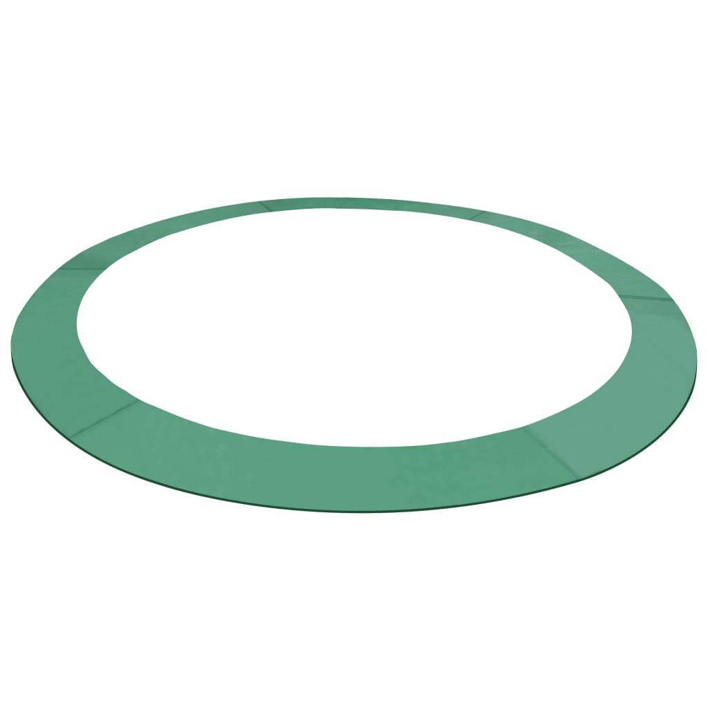 vidaXL Ochranný kryt na kruhovú trampolínu 3,66 m zelený PE
