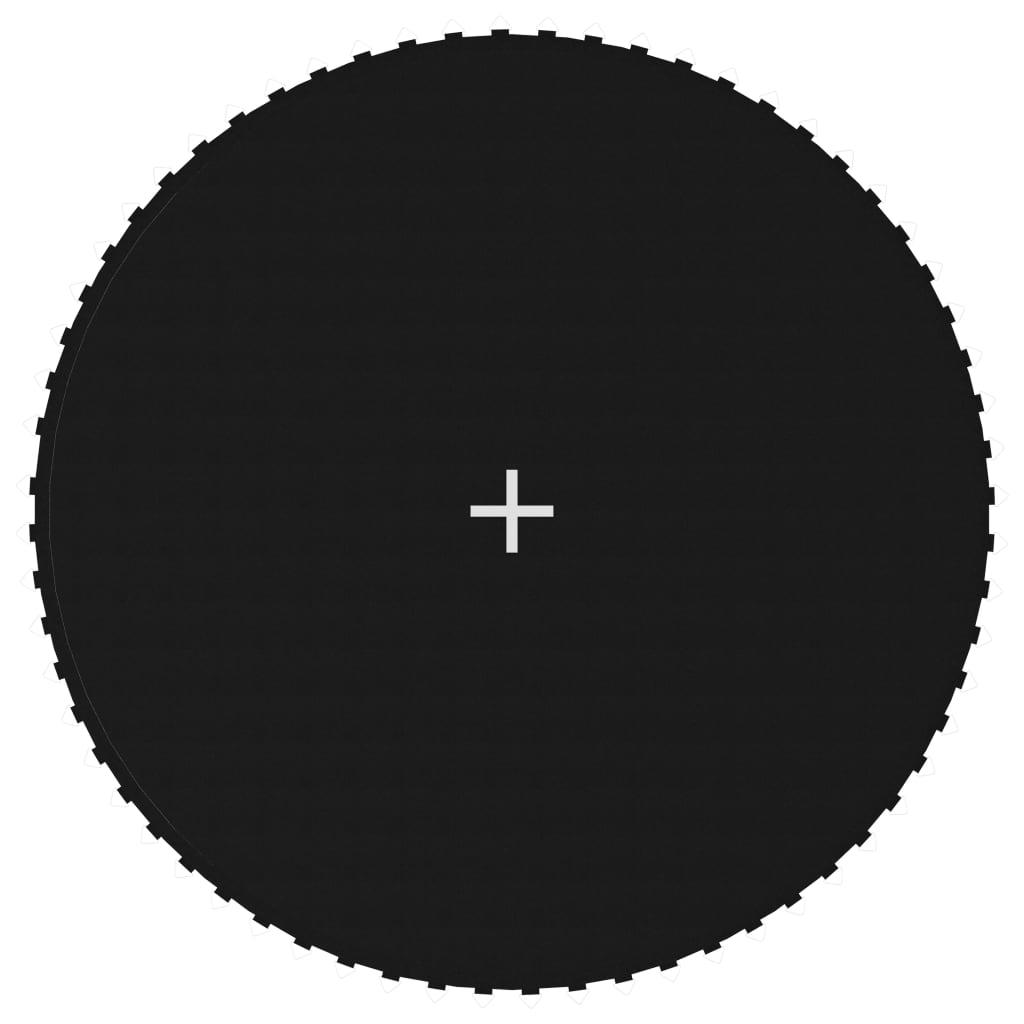 vidaXL Skákacia plocha na 3,66 m okrúhlu trampolínu, látka, čierna