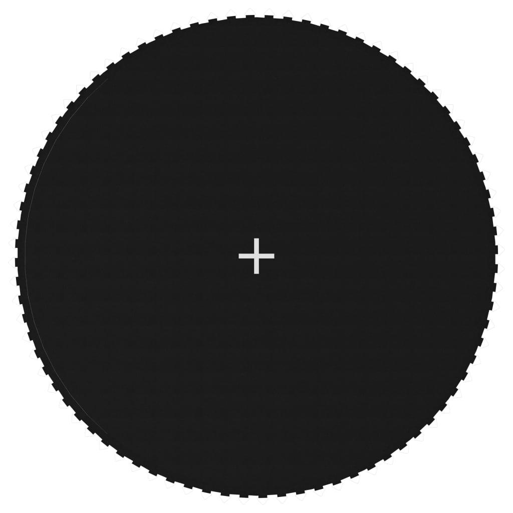 vidaXL Skákacia plocha na 4,27 m okrúhlu trampolínu, látka, čierna