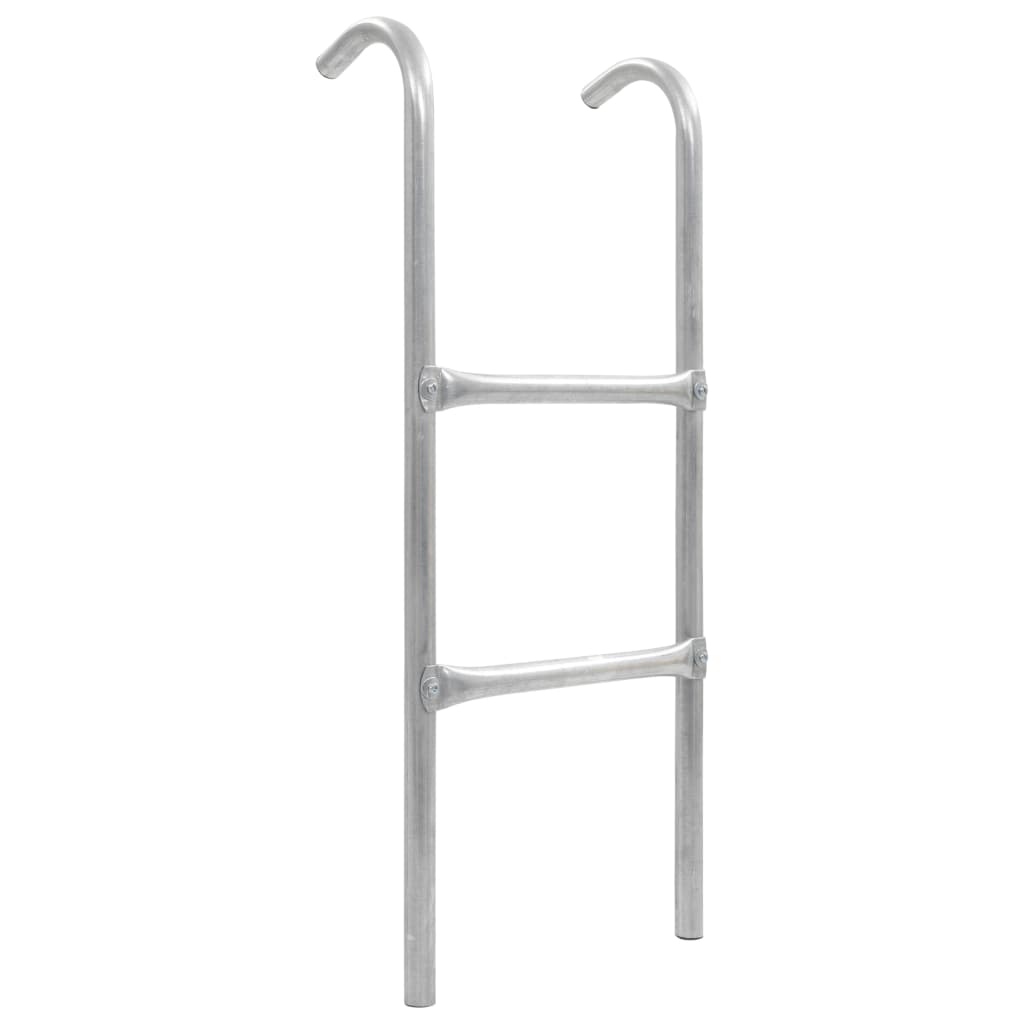 vidaXL Dvojstupňový trampolínový rebrík strieborný 82,5 cm oceľový