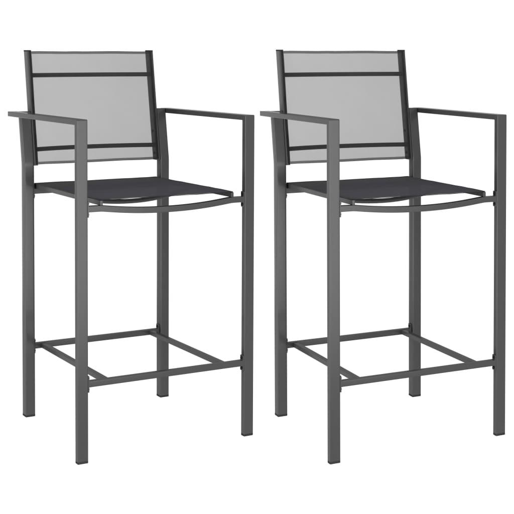 vidaXL Barové stoličky 2 ks anthracitové texilénové