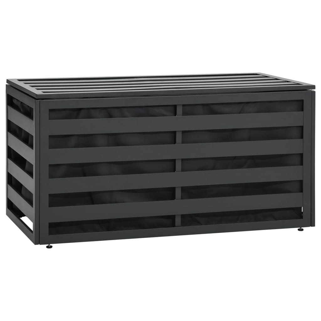 vidaXL Záhradný úložný box antracitový 100x50x50 cm hliníkový