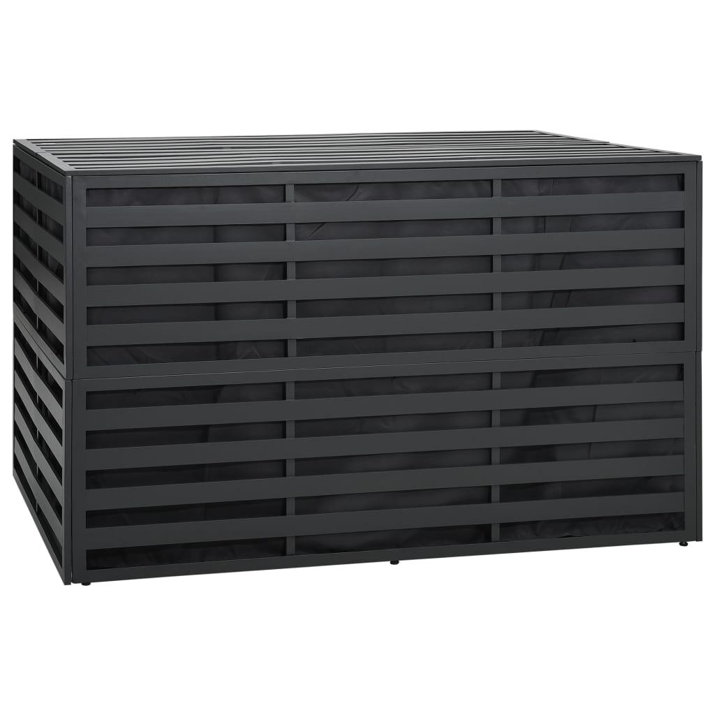vidaXL Záhradný úložný box antracitový 150x100x100 cm hliníkový
