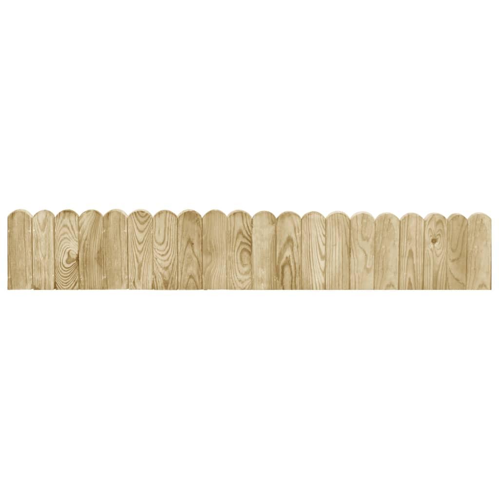 vidaXL Trávnikový lem zelený 120 cm impregnované borovicové drevo