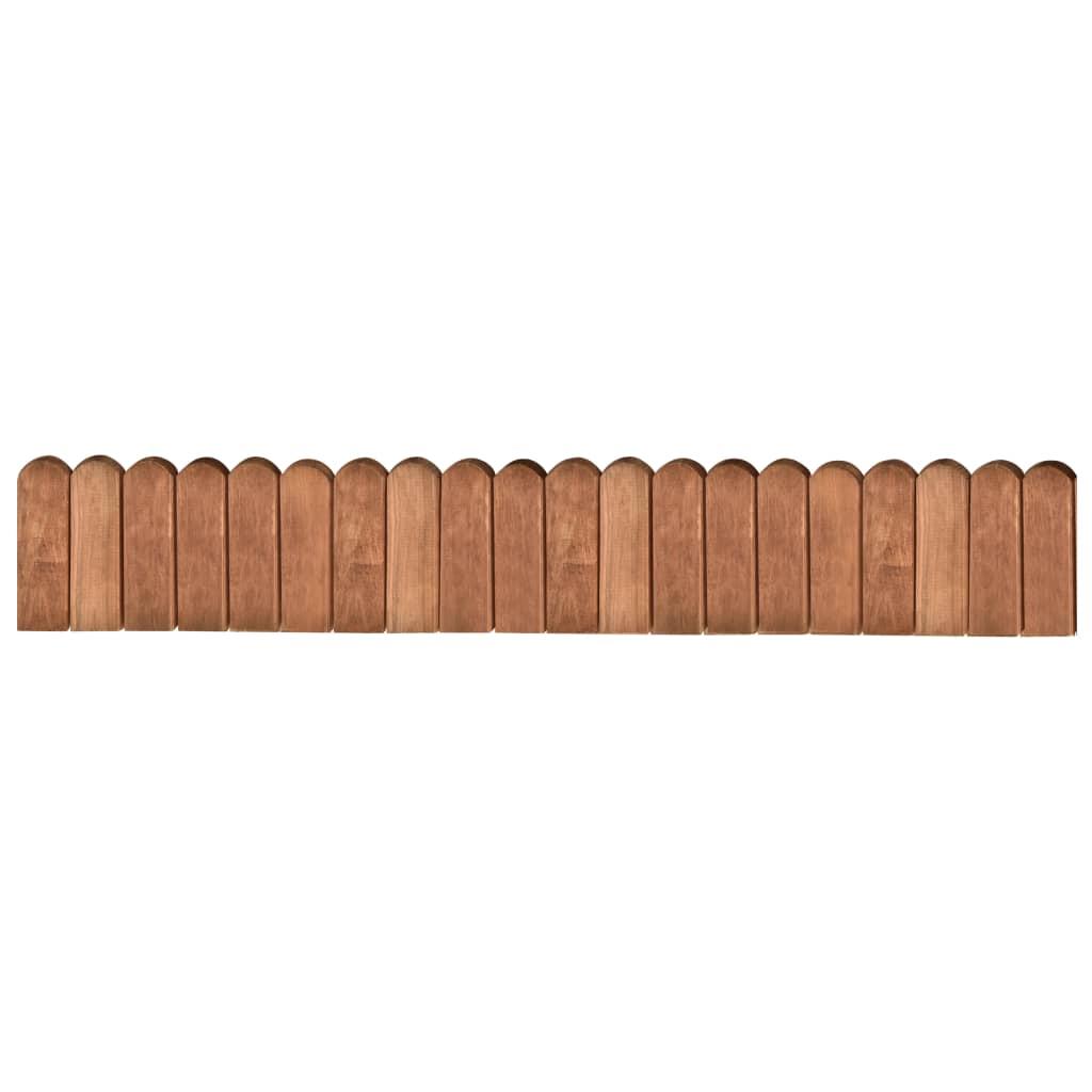 vidaXL Trávnikový lem hnedý 120 cm impregnované borovicové drevo