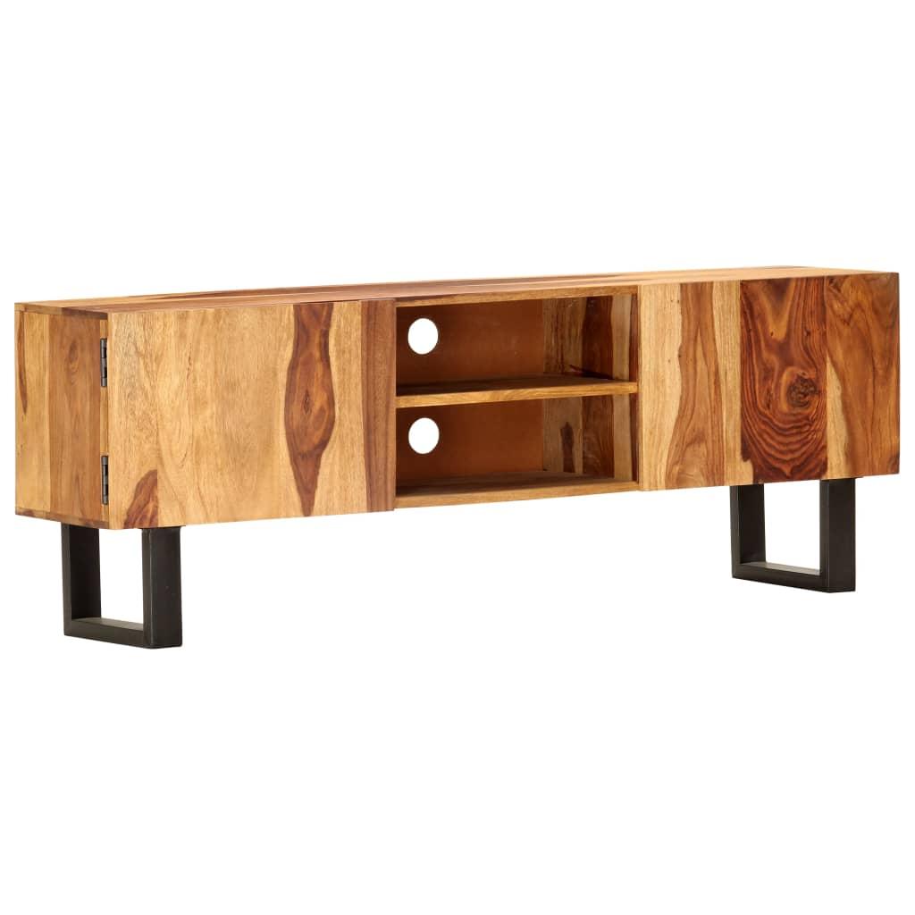 vidaXL TV skrinka 130x30x47 cm masívne akáciové drevo