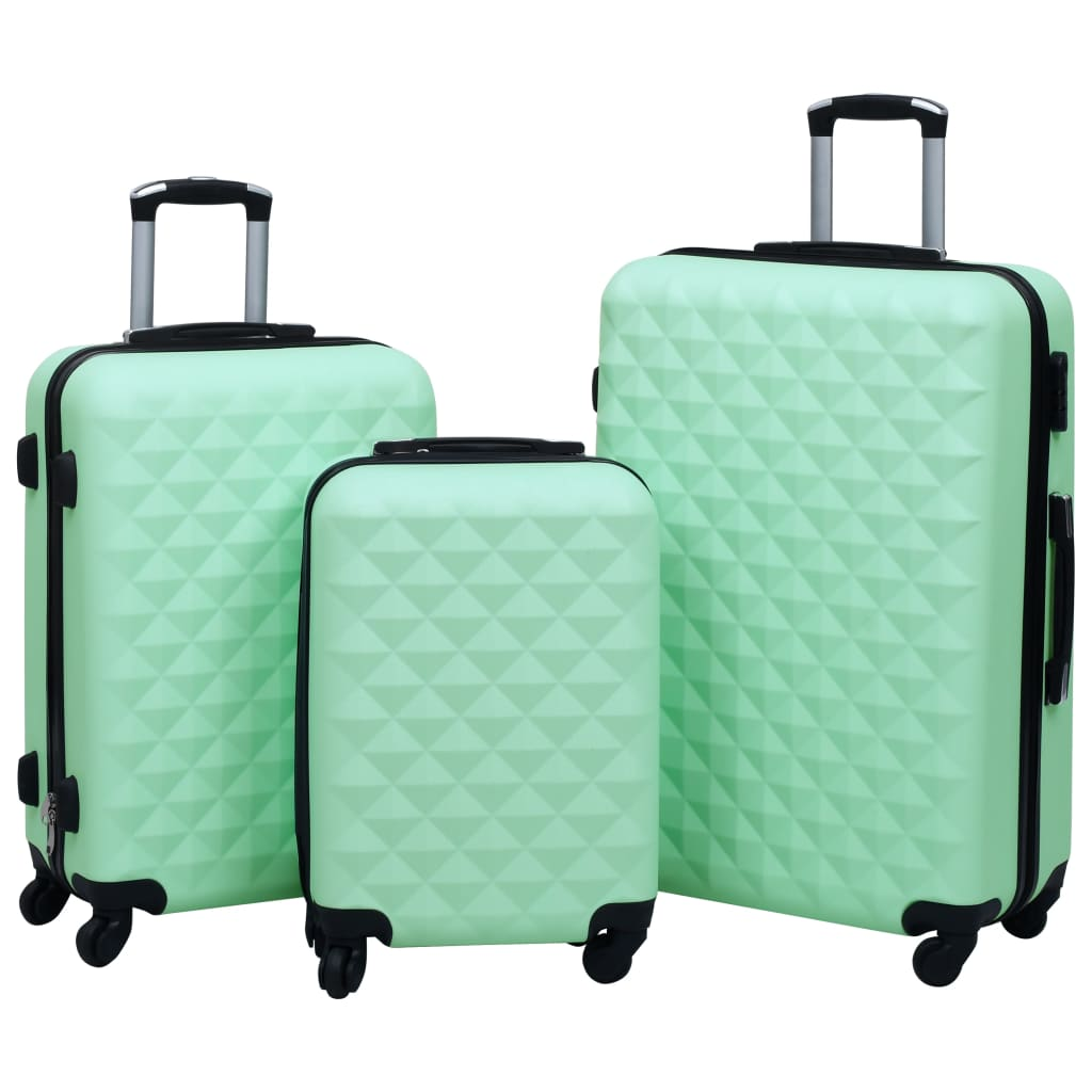 vidaXL Súprava cestovných kufrov s tvrdým krytom 3 ks mätová ABS