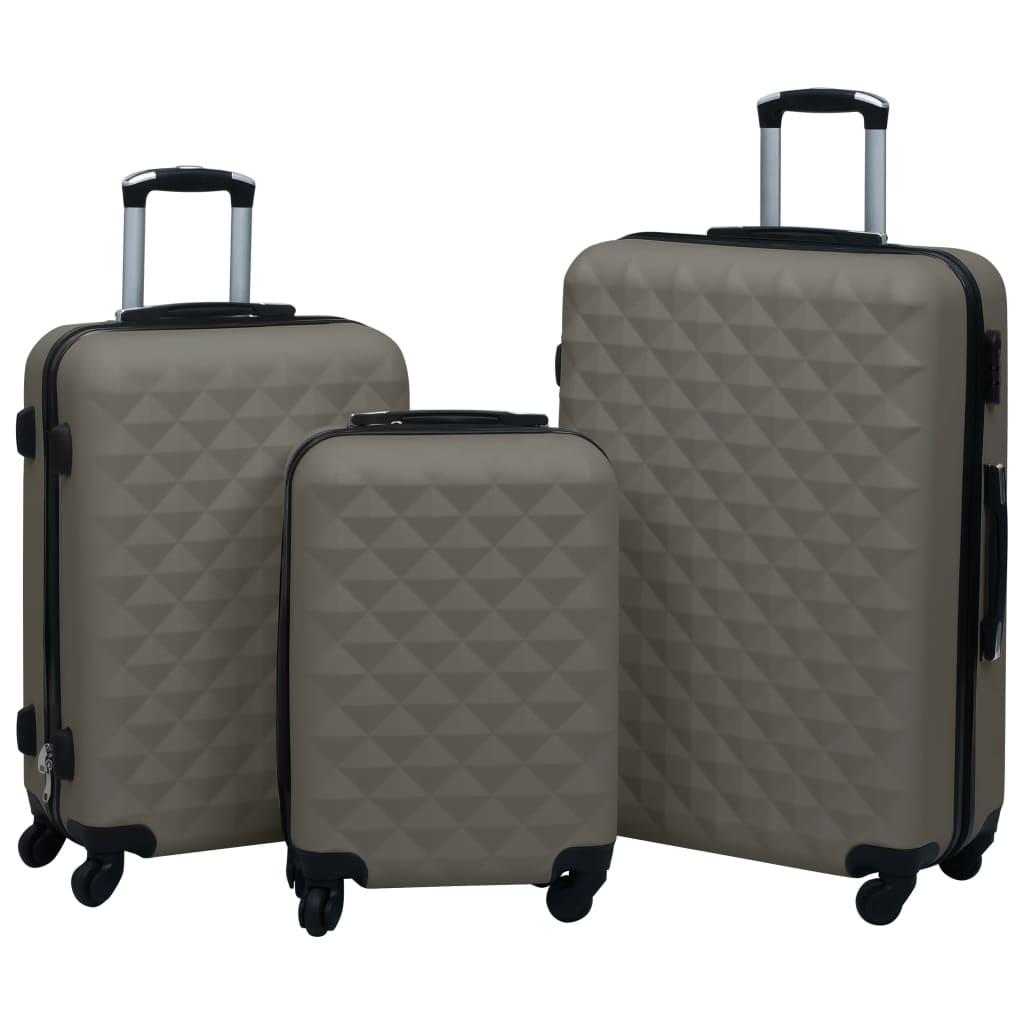 vidaXL Súprava cestovných kufrov s tvrdým krytom 3 ks antikorová ABS