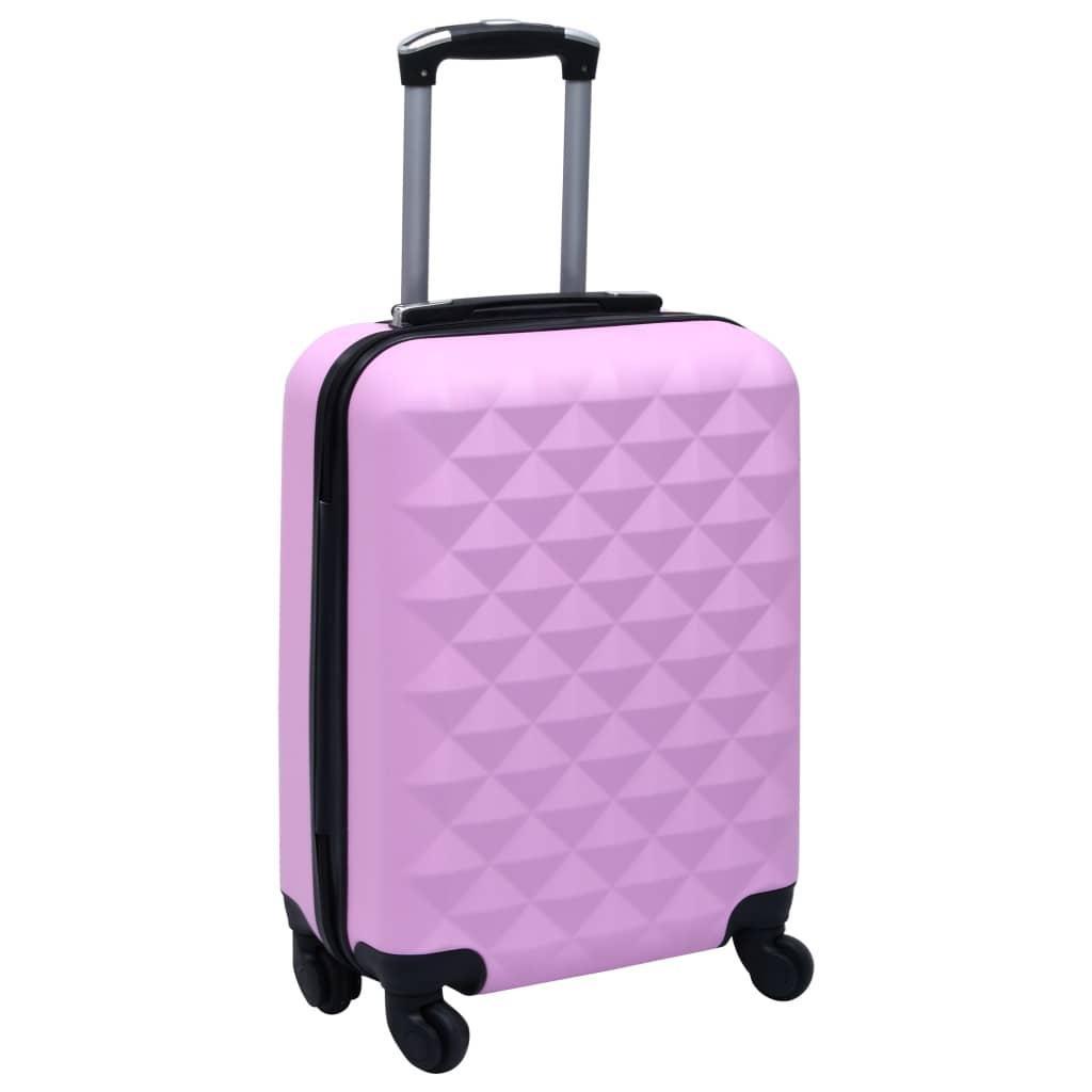 vidaXL Cestovný kufor s tvrdým krytom ružový ABS