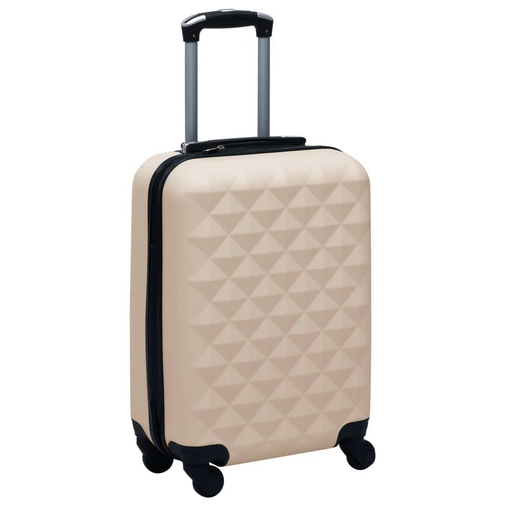 vidaXL Cestovný kufor s tvrdým krytom zlatý ABS
