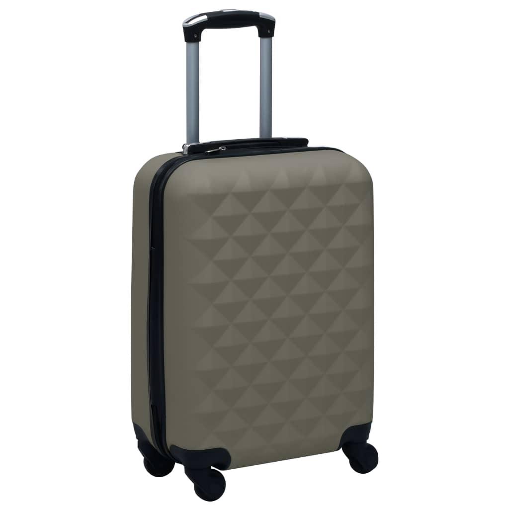 vidaXL Cestovný kufor s tvrdým krytom antracitový ABS