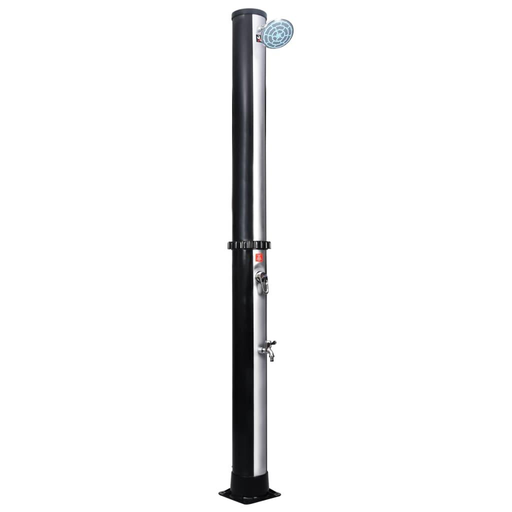 vidaXL Vonkajšia solárna sprcha so sprchovou hlavicou a kohútikom 35 l