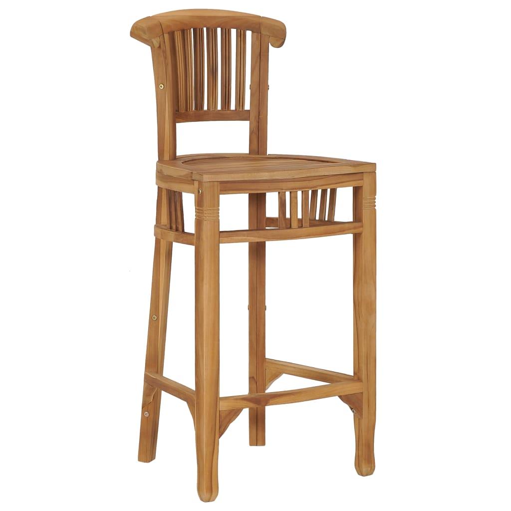 vidaXL Barová stolička, tíkový masív