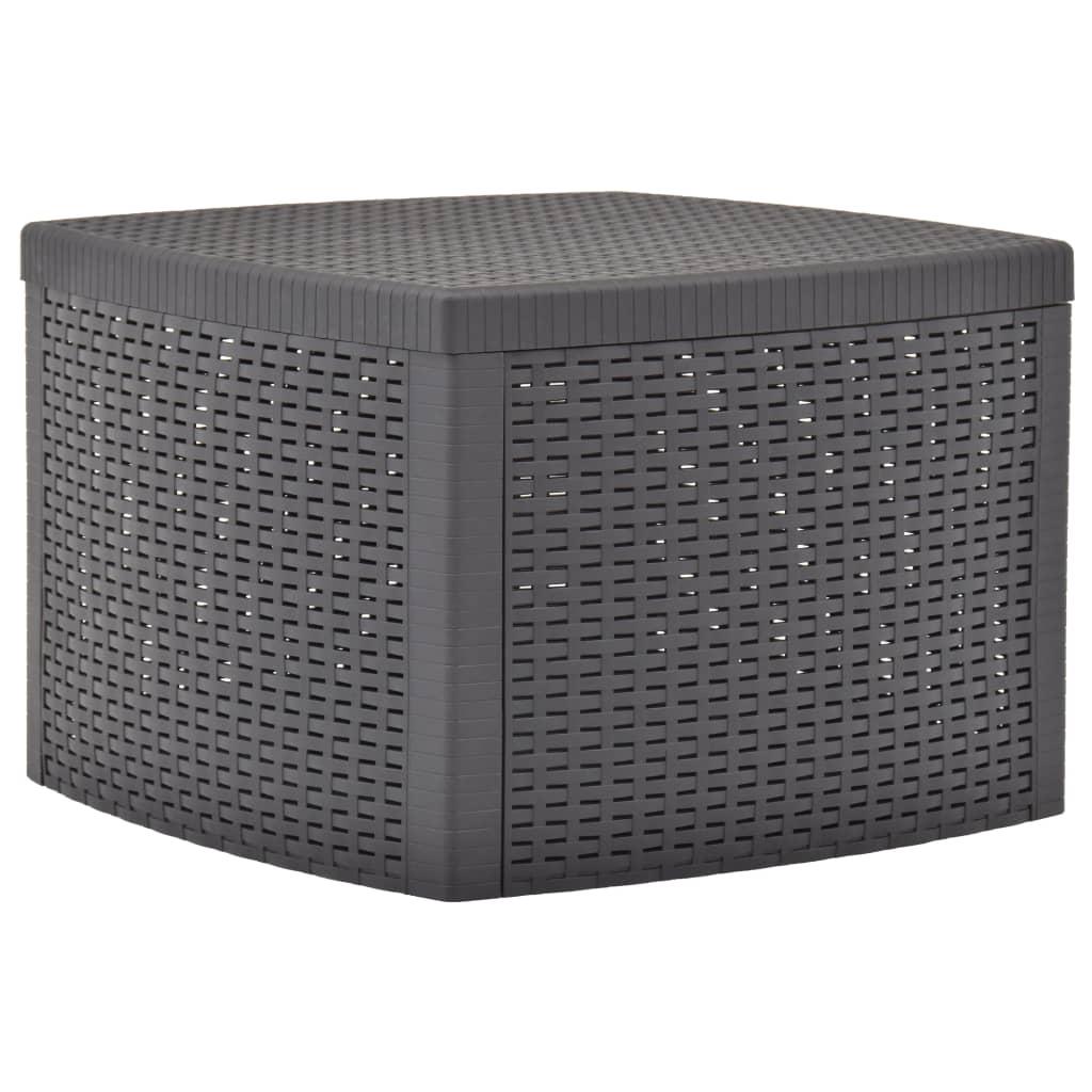 vidaXL Príručný stolík, farba mokka 54x54x36,5 cm, plast