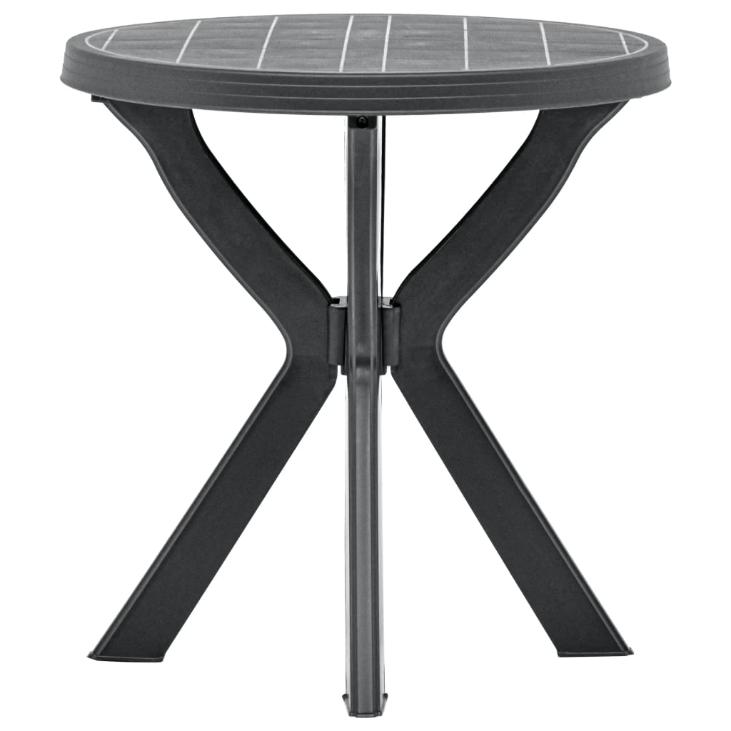 vidaXL Bistro stolík antracitový Ø70 cm plastový