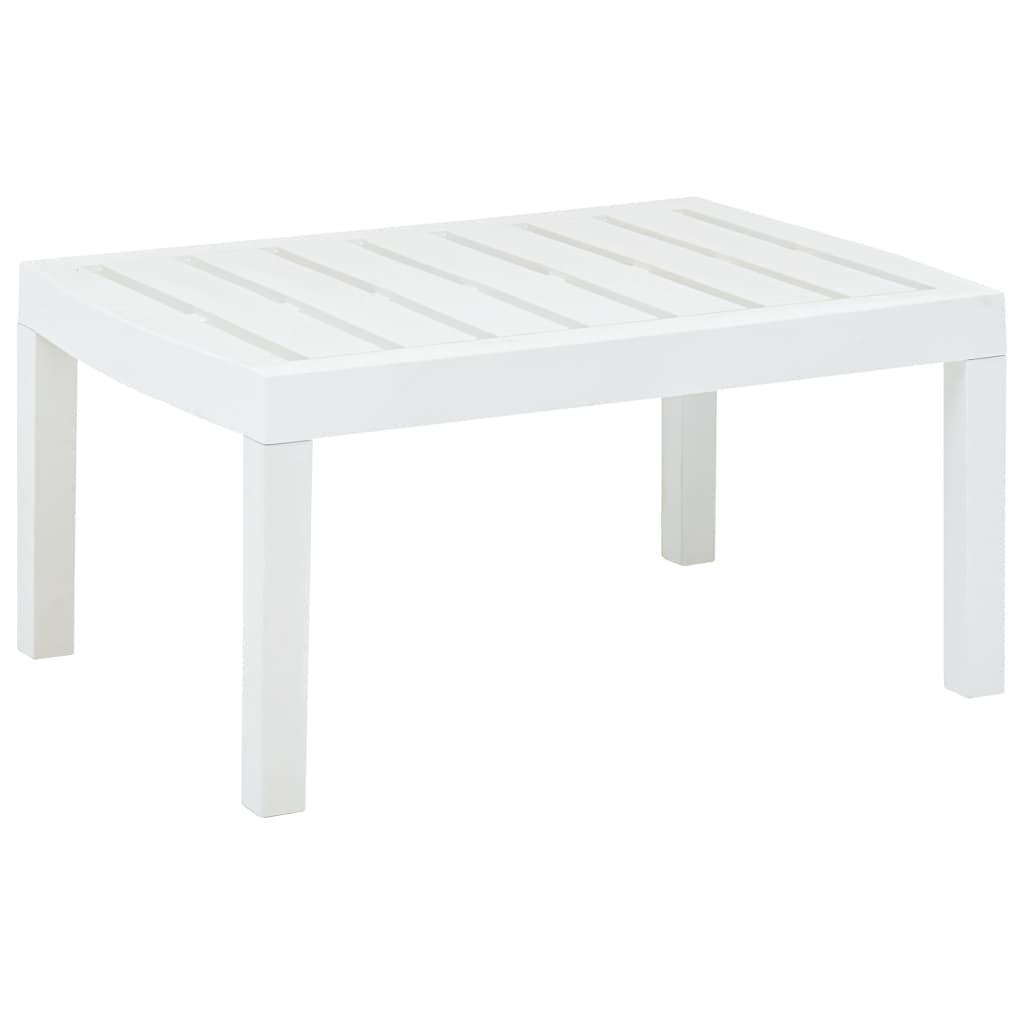 vidaXL Záhradný stolík, biely 78x55x38 cm, plast