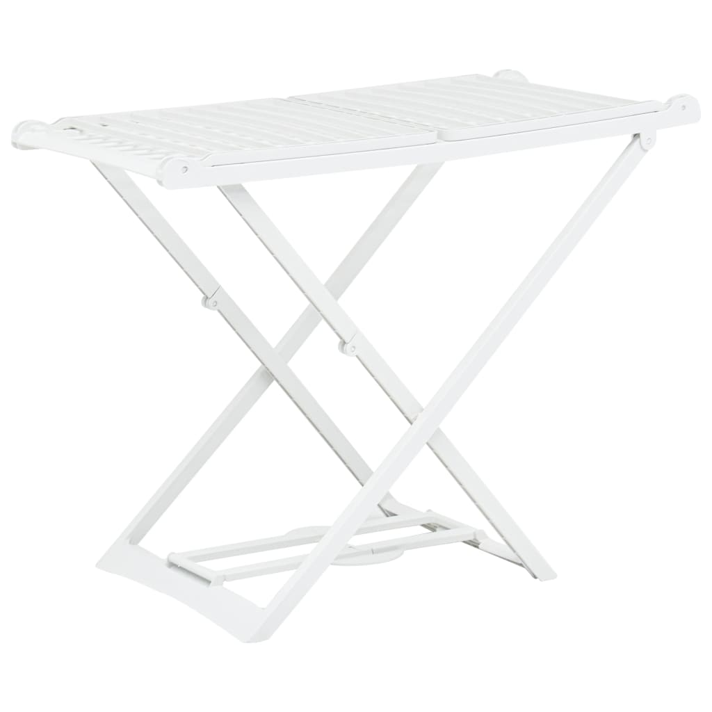 vidaXL Skladací sušiak na prádlo biely plastový