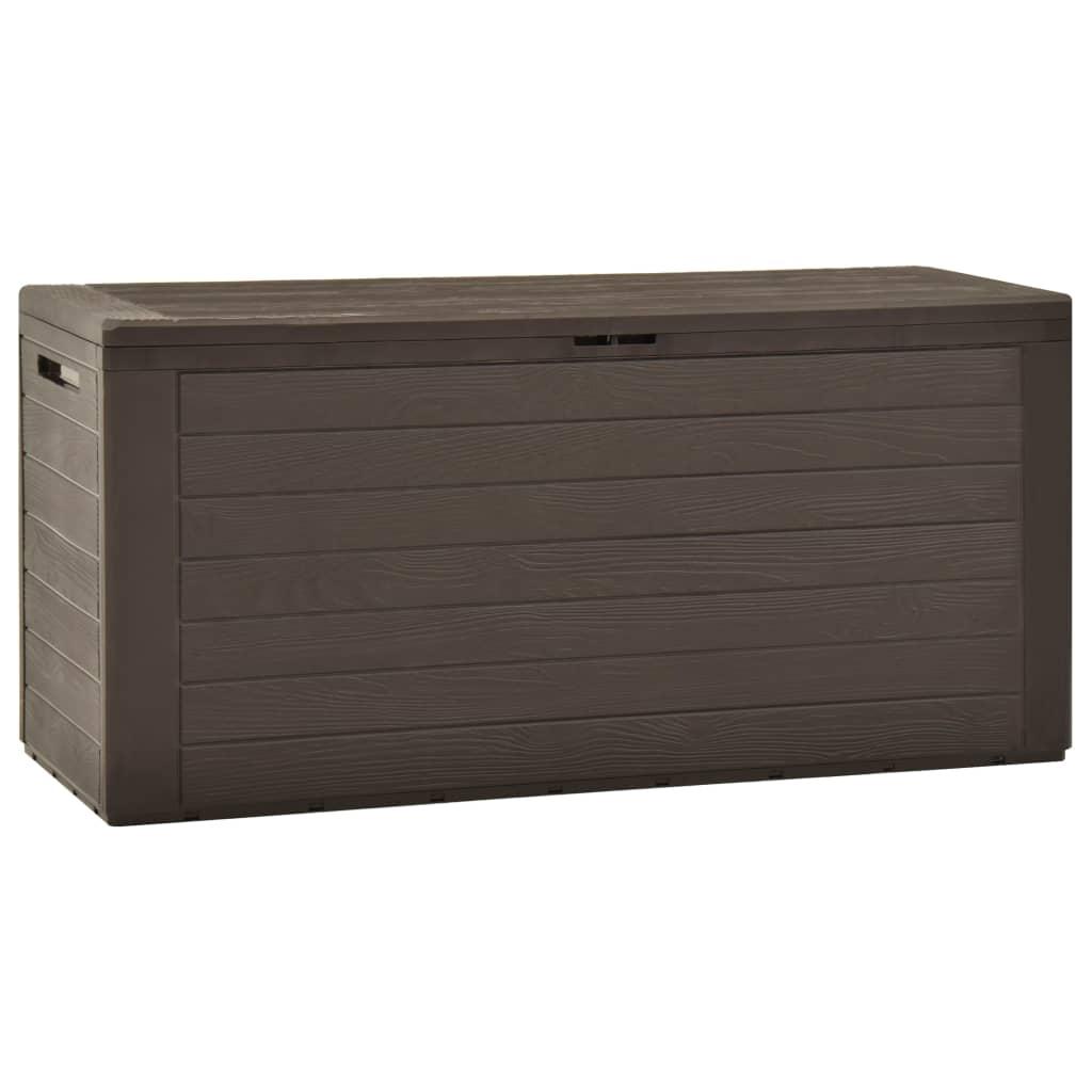 vidaXL Záhradný úložný box hnedý 116x44x55 cm