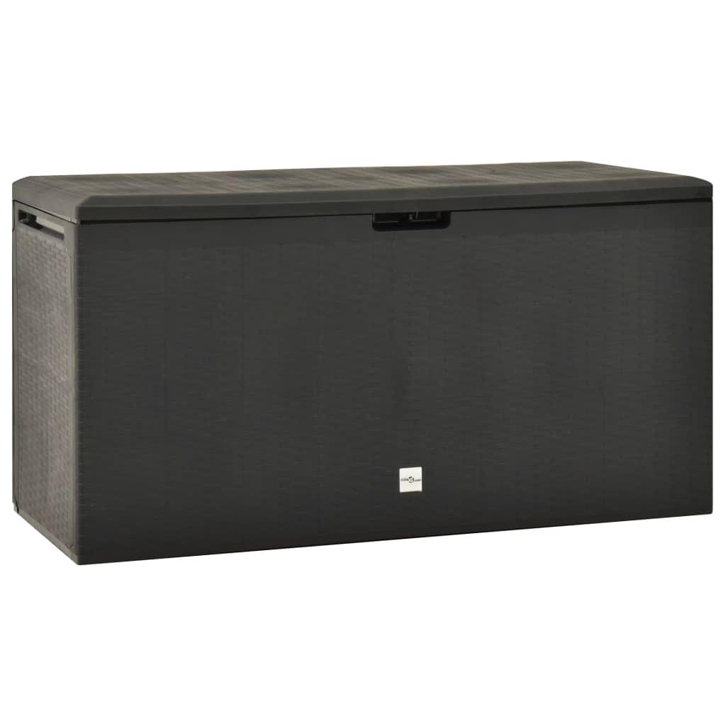 vidaXL Záhradný úložný box antracitový 114x47x60 cm