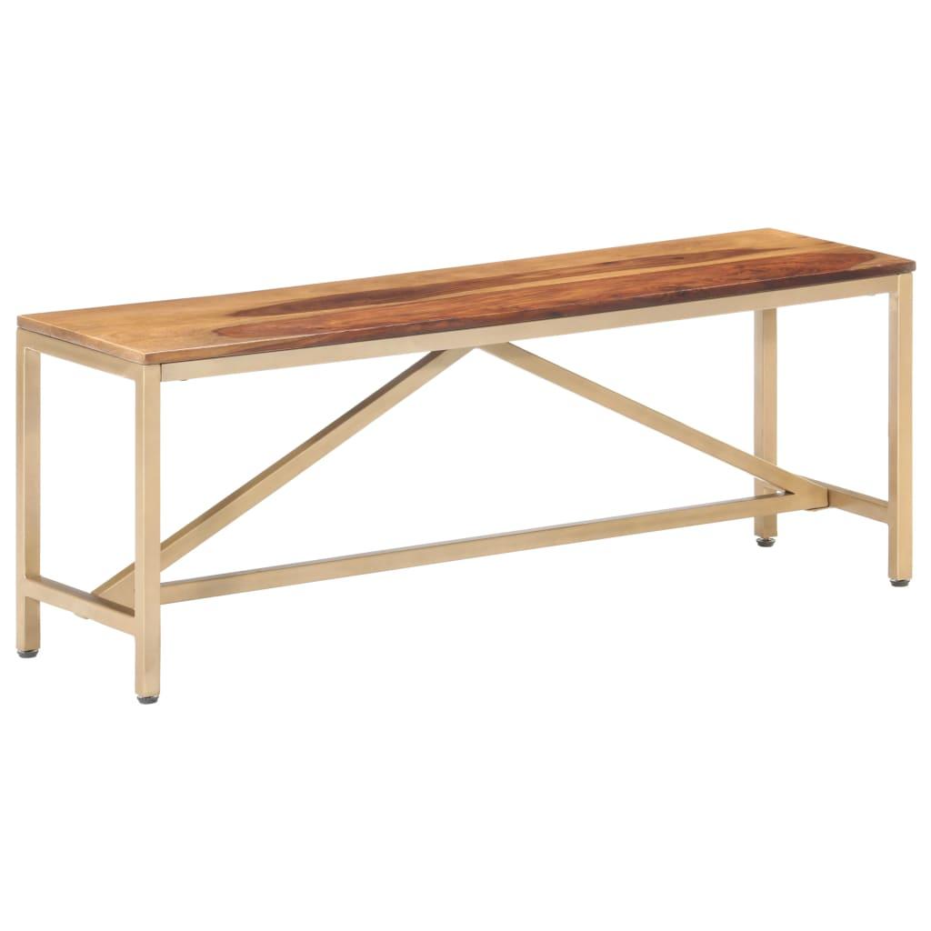 vidaXL Lavička 120 cm masívne sheeshamové drevo