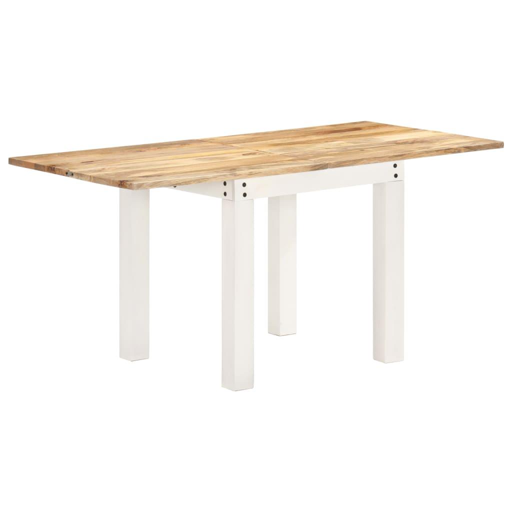 vidaXL Rozkladací jedálenský stôl 82x(80-160)x76 cm, mangový masív