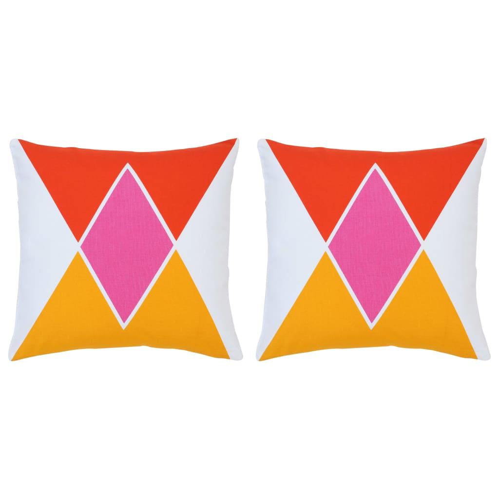vidaXL Vankúše 2 ks viacfarebné 40x40 cm bavlna s potlačou