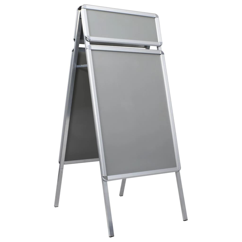 vidaXL Reklamný stojan na plagát A1 s hlavičkou hliníkový