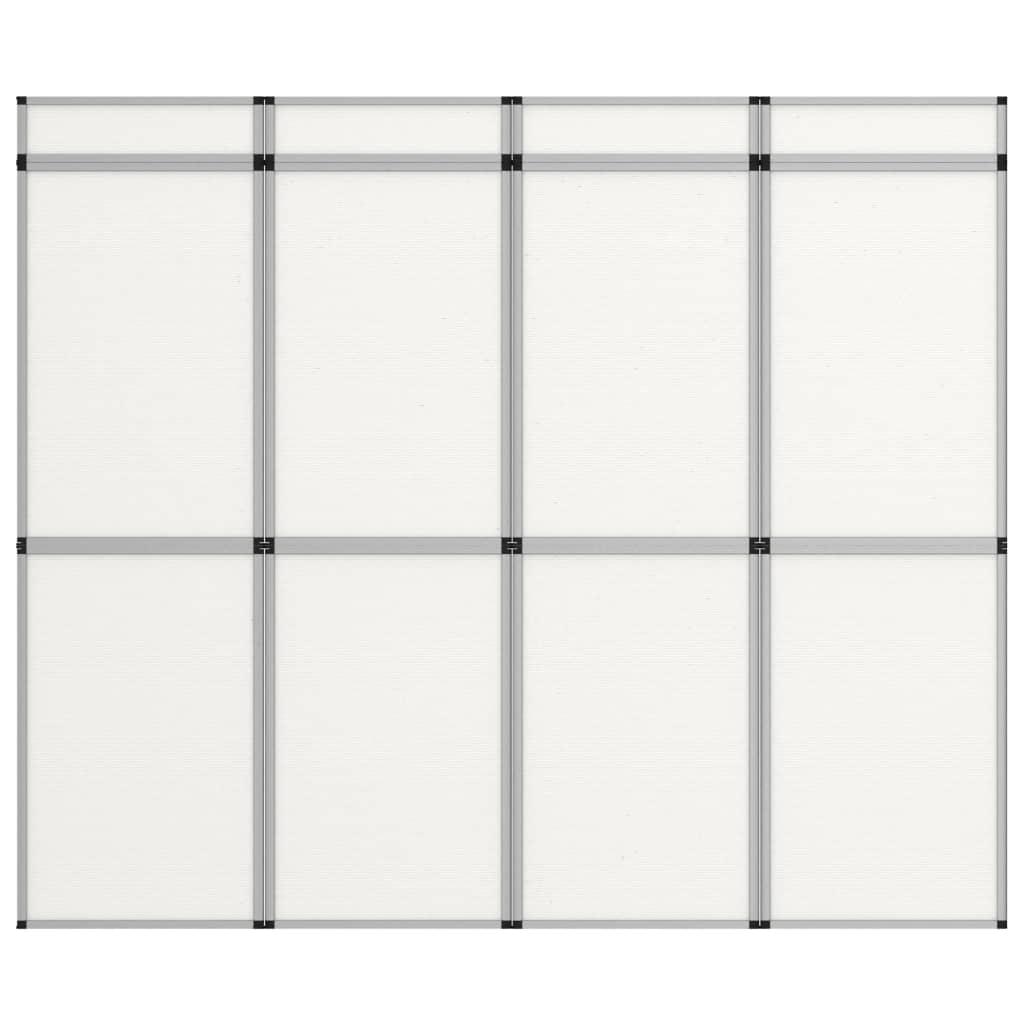 vidaXL 8-panelová skladacia výstavná stena biela