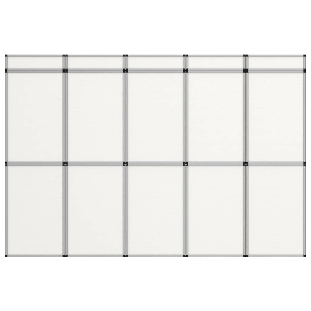vidaXL 10-panelová skladacia výstavná stena biela