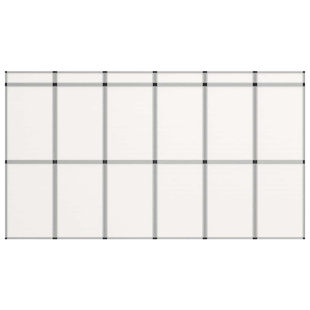 vidaXL 12-panelová skladacia výstavná stena biela
