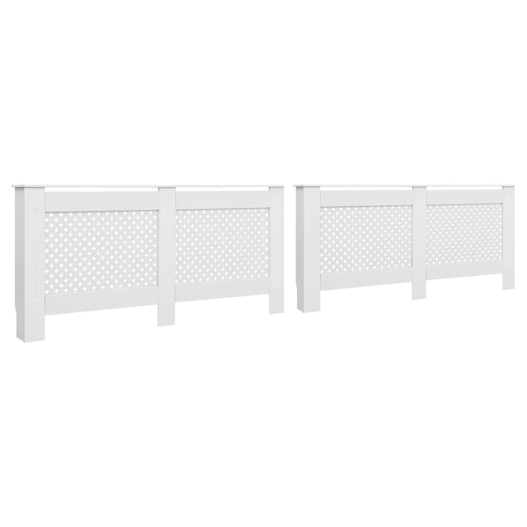vidaXL Kryty na radiátor 2 ks, biele 172x19x81,5 cm, MDF