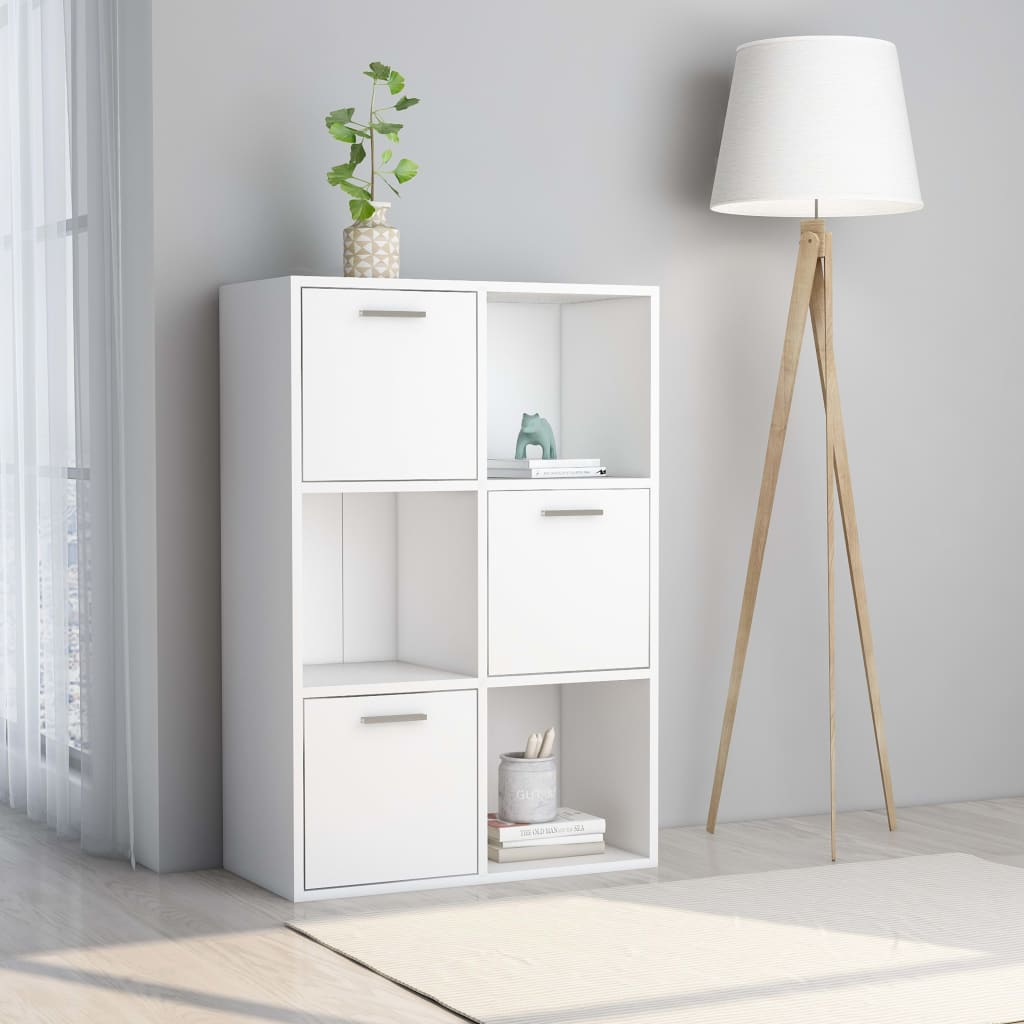 vidaXL Úložná skrinka biela 60x29,5x90 cm drevotrieska