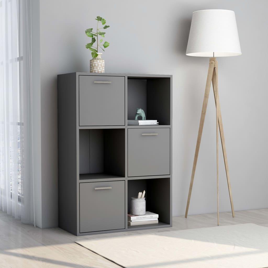 vidaXL Úložná skrinka sivá 60x29,5x90 cm drevotrieska