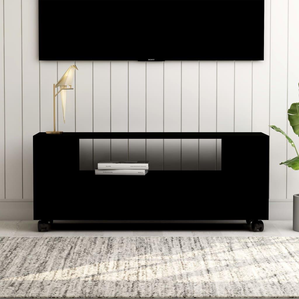 vidaXL TV skrinka čierna 120x35x43 cm drevotrieska