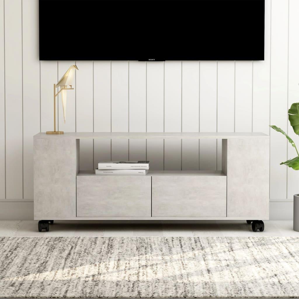 vidaXL TV skrinka betónovo-sivý 120x35x43 cm drevotrieska