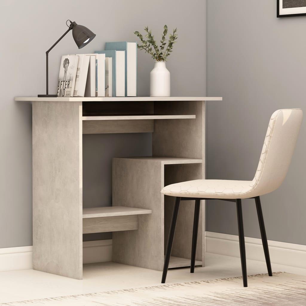 vidaXL Písací stôl, betónovo sivý 80x45x74 cm, drevotrieska