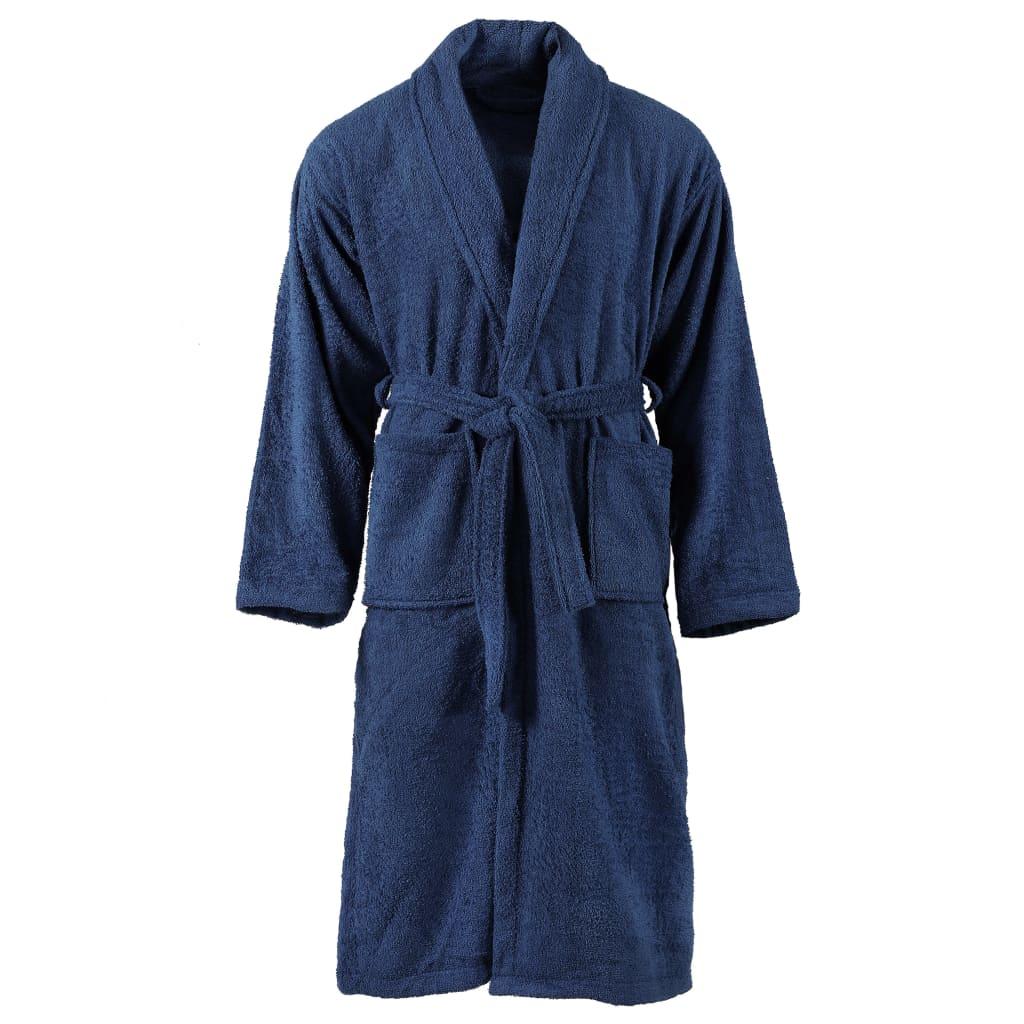 vidaXL Unisex froté župan námornícky modrý 100 % bavlna M