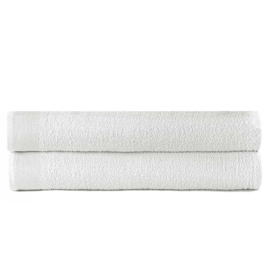 vidaXL Kúpeľňové uteráky 2 ks biele 100x150 cm bavlnené 450 g/m2