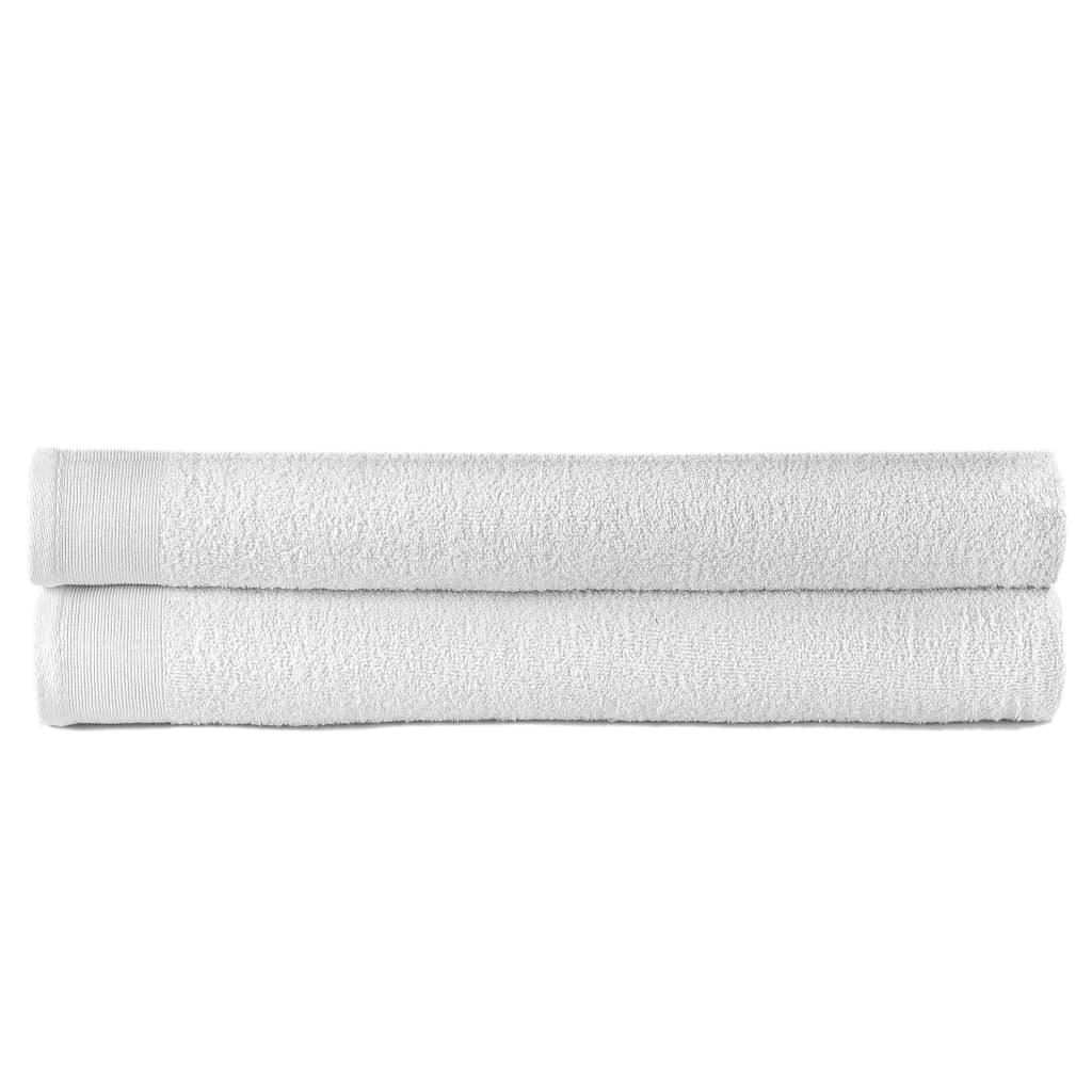vidaXL Saunové uteráky 2 ks biele 80x200 cm bavlnené 450 g/m2